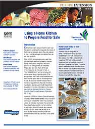 Using a Home Kitchen to Prepare Food for Sale (Food Entrepreneurship Series)