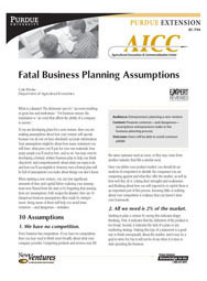 Fatal Business Planning Assumptions