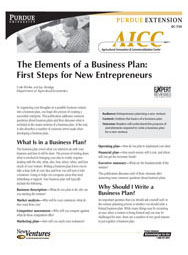The Elements of a Business Plan: First Steps for New Entrepreneurs
