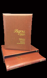 Barns of Indiana Vol 1 and Vol 2 (Leather Bound) Boxed Set
