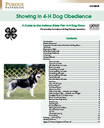 Indiana 4-H Showing in 4-H Dog Obedience