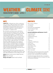 Weather and Climate Science, Facilitator's Guide, Level 1 (PDF)