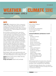 Weather and Climate Science, Facilitator's Guide, Level 3 (PDF)