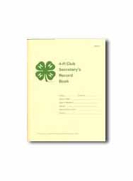 4-H Club Secretary Record Book
