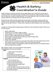Health & Safety Coordinator's Guide
