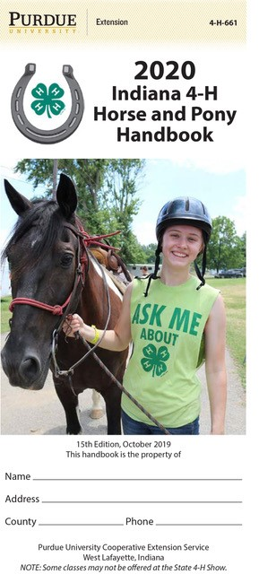 2020 Indiana 4-H Horse and Pony Handbook