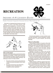 Indiana 4-H Leader Guide: Recreation