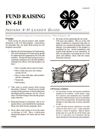 Indiana 4-H Leader Guide: Fund Raising in 4-H