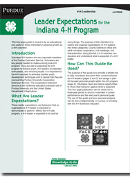 Leader Expectations for the Indiana 4-H- Program