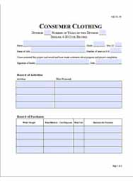 Consumer Clothing Record