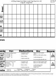 Leader Dog Obedience Trial Score Sheet:  First Year Class B