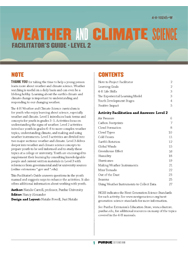 Weather and Climate Science, Facilitator's Guide, Level 2 (PDF)