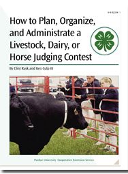 How to Plan, Organize, and Administrate a Livestock, Dairy or Horse Judging Contest