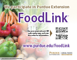 Purdue Extension FoodLink vendor retail sign (10/pk)