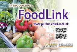 Purdue Extension FoodLink promotional postcard to retailers (100/pk)