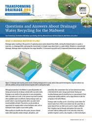 Q&A About Drainage Water Recycling for the Midwest