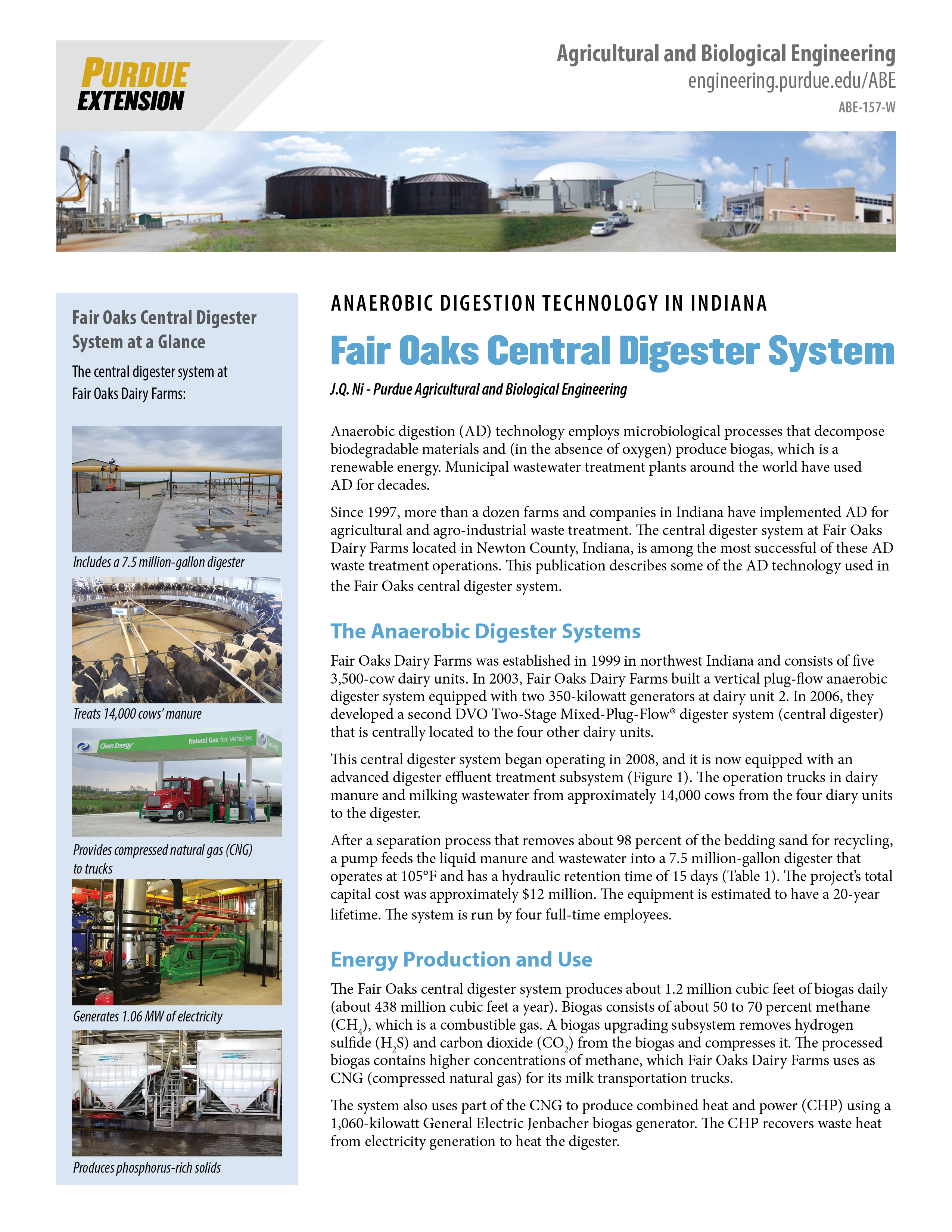 Anaerobic Digestion Technology: Fair Oaks