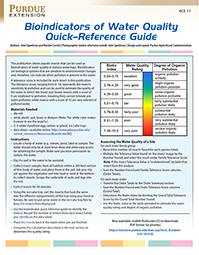 Bioindicators of Water Quality Quick-Reference Guide