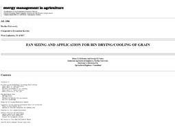 Fan Sizing and Application for Bin Drying/Cooling of Grain