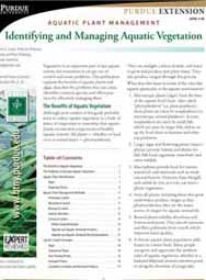 Aquatic Plant Management: Identifying and Managing Aquatic Vegetation