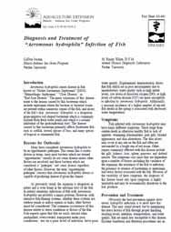 Diagnosis and Treatment of Aeromonas Hydrophila Infection of Fish