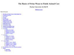 The Basics of Swine Wean-to-Finish Animal Care