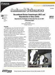 Recombinant Bovine Somatotropin (rBST) and Reproduction in Dairy Cattle: Reproductive Strategies to Overcome the Loss of rBST in the Dairy Herd