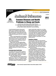 Common Diseases and Health Problems in Sheep and Goats