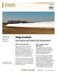 Silage Leachate: Use Caution and Protect the Environment