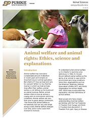 Animal Welfare and Animal Rights: Ethics, Science and Explanations