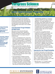 Lawn Improvement Programs