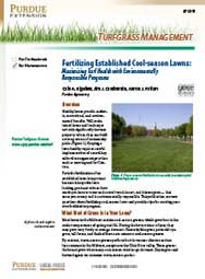 Turfgrass Management: Fertilizing Established Cool-season Lawns