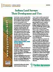 Indiana Land Surveys: Their Development and Uses