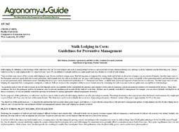 Stalk Lodging in Corn:  Guidelines for Preventive Management