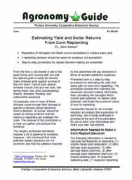 Estimating Yield and Dollar Returns from Corn Replanting