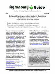 Delayed Planting & Hybrid Maturity Decisions