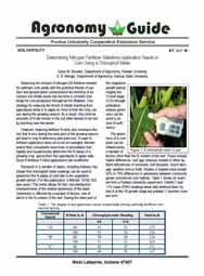 Determining Nitrogen Fertilizer Sidedress Application Needs in Corn Using a Chlorophyll Meter