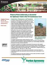 Optimizing Conservation Tillage Systems: Plant-to-Plant Uniformity is Essential for Optimum Yield in No-Till Cont. Corn