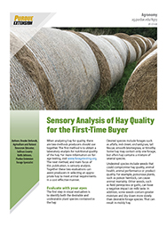 Sensory Analysis of Hay Quality for First- Time Buyer