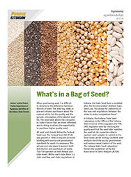 What's in a Bag of Seed?