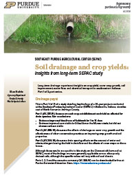 Soil drainage and crop yields: Insights from long-term SEPAC study