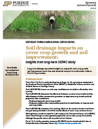 Soil drainage impacts on cover crop growth and soil improvement: Insights from long-term SEPAC study