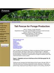 Tall Fescue - Establishment and Management