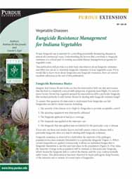 Vegetable Diseases: Fungicide Resistance Management for Indiana Vegetables