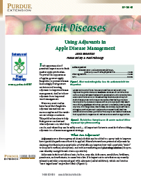 Fruit Diseases: Using Adjuvants in Apple Disease Management