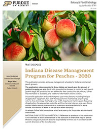 Indiana Disease Management Program for Peaches