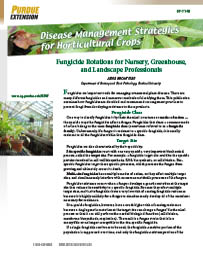Disease Management Strategies for Horticultural Crops: Fungicide Rotations for Nursery, Greenhouse, and Landscape Professionals