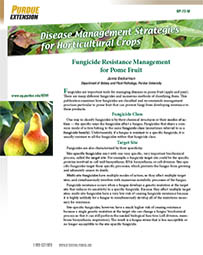 Disease Management Strategies for Horticultural Crops: Fungicide Resistance Management for Pome Fruit