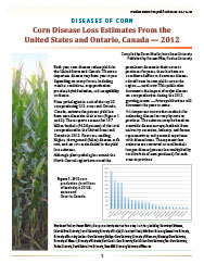 Diseases of Corn: Corn Disease Loss Estimates From the United States and Ontario, Canada - 2012