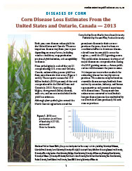 Diseases of Corn: Corn Disease Loss Estimates From the United States and Ontario, Canada - 2013